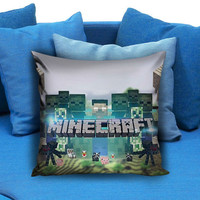 Brick Game 01 Minecraft Creeper Pillow case
