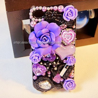 new htc one m7 case, Galaxy s4 case, 3D Bling mix Flower LOVE Crystal Finished Case cover for iPhone 4 4s 5 5G 5c 5s, Samsung galaxy s3 case