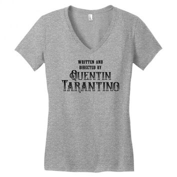 Written and Directed by Quentin Tarantino Women's V-Neck T-Shirt