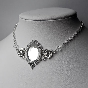Artemis Forest Elf Inspired Choker Necklace (Clear)