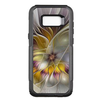 Abstract Colorful Fantasy Flower Modern Fractal OtterBox Commuter Samsung Galaxy S8+ Case