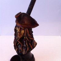 Tobacco Hand Made Pipe, Jack Sparrow Design