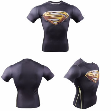 3D T Shirt Gym Fitness Superman Crossfit T Shirt