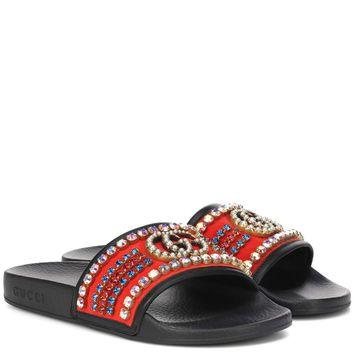 Crystal embellished slides