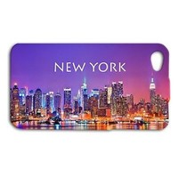 Purple New York City Lights Cute Case iPhone iPod Cover Cool Phone NYC Sunset