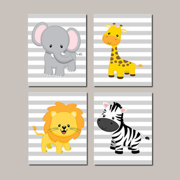 Vintage Giraffe Nursery Decor