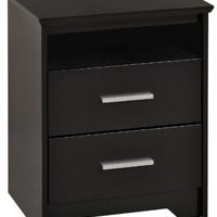 Prepac Black Coal Harbor 2 Drawer Tal...