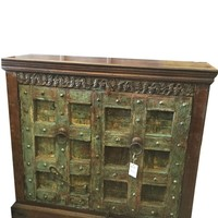 Antique Sideboard Doors Reclaimed Wood Double Door Chest Cabinet Indian Furniture