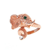 Dear Deer Rose Gold Plated Elephant Cocktail Ring