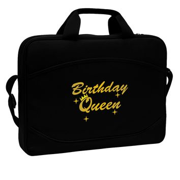 """Birthday Queen Text 15"""" Dark Laptop / Tablet Case Bag by TooLoud"""