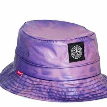 Supreme Stone Island Bucket Hat - Purple