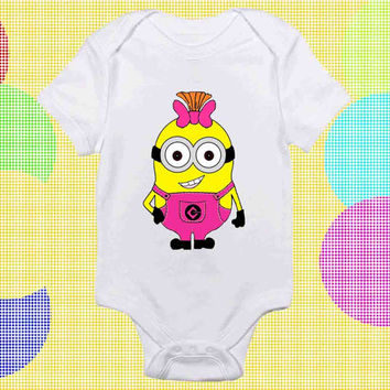 Pinky Minion baby Onesuit, Pinky Minion baby shirt, baby clothing, baby costum, baby shirt Onesuit, baby Onesuit cute