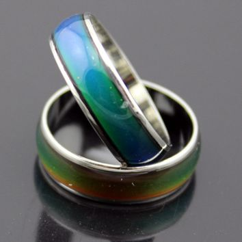 Personality Stainless Changing Color Mood Ring
