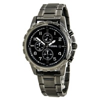 Fossil FS4721 Men's Dean Chronograph Black Dial Smoke Stainless Steel Watch