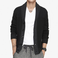 MARLED PLAITED SHAWL COLLAR CARDIGAN from EXPRESS