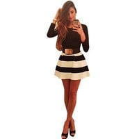 Bessky(TM) 2015 Lady Bandage Bodycon Long Sleeve Evening Sexy Party Mini Dress (M)