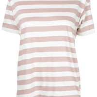 Rose Stripe Boyfriend Tee