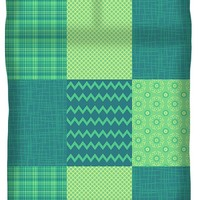 Patchwork Patterns - Seafoam Green Duvet Cover for Sale by Shawna Rowe - Queen