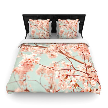 "Iris Lehnhardt ""Blossoms All Over"" Flowers Woven Duvet Cover"