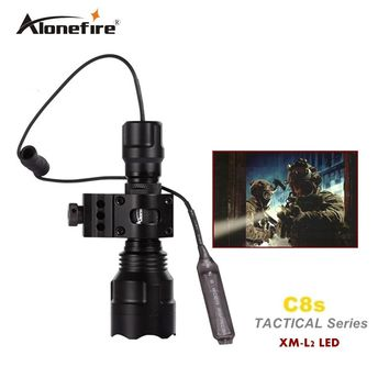 Tactical Gun Flashlight Torch 2200LM CREE XM-L2 LED 5 Modes+scope Mount+remote switch