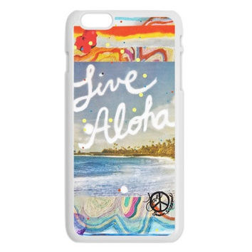 iPhone 6, iPhone 6 Plus Cases, LIVE ALOHA, iPhone6, iPhone 6 Plus, Hawaii, Beach, Aloha,  Avail. with Black or White case color