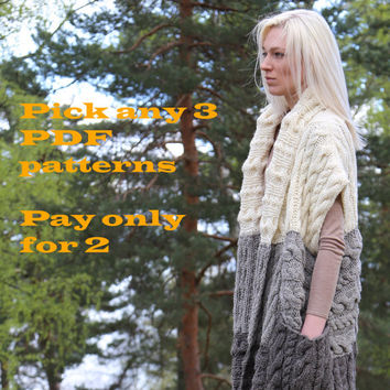 Take 3 patterns, pay for 2! . Digital patterns from Ilze Of Norway.