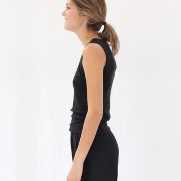 Lina Rennell Tank Cotton / Silk Knit Black