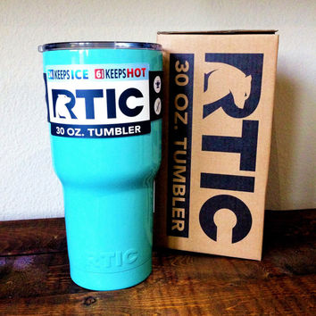 30 oz. RTIC Tumbler Custom Powder Coated Light Blue
