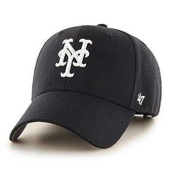 47 Brand New York Mets MVP Dad Hat Cap MLB Black/White