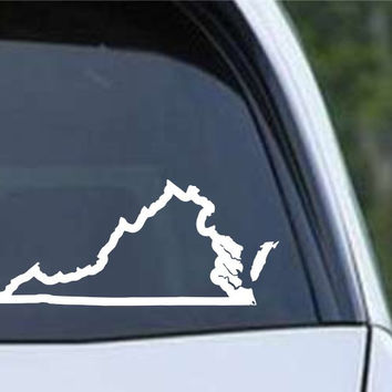 Virginia State Outline VA - USA America Die Cut Vinyl Decal Sticker