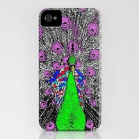 Peacock Pop Art iPhone Case by Romi Vega