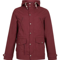 BURGUNDY WADDED TREK JACKET