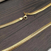 Shiny Jewelry Gift New Arrival Stylish Accessory Snake Bone Chain Hip-hop Necklace (75*6mm) [6542740675]