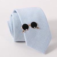 Gold Plated Sunglasses Tie Bar