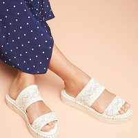 Anthropologie Woven Espadrille Sandals