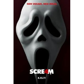 Scream 4 Movie poster Metal Sign Wall Art 8in x 12in