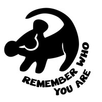 Lion King Remember Who You Are Decal Sticker