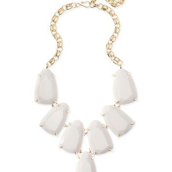 Kendra Scott Harlow White Opaque Gold Necklace