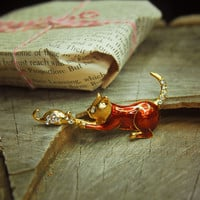 Cat & Mouse Brooch #5138