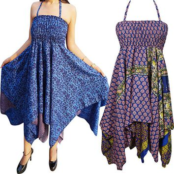 Womens Kylie Sundress Recycled Sari Resort Wear Halter Dress S/M Lot Of 2: Amazon.ca: Clothing & Accessories