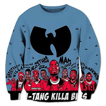 Hip Hop 3D Men Sweatshirts Wu Tang Clan Print Hoodies Harajuku Fashion Leisure Crewneck Streetwear Plus Size 4XL 5XL Clothing