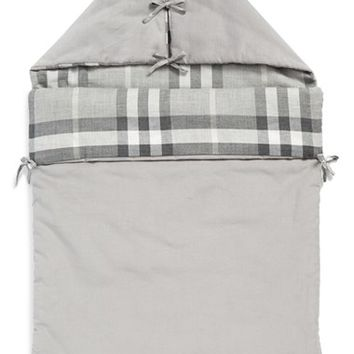 Infant Burberry 'Lena' Baby Nest - Grey
