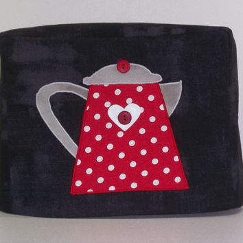 Coffee Pot Applique Toaster Cover - 2 Slice Toaster Cover