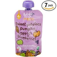 Ella's Kitchen Organic Baby Food, Sweet Potatoes, Pumpkin, Apples + Blueberries (4+months), 3.5-Ounce Pouches (Pack of 7)