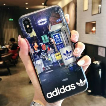 Adidas Fashion new on the road print women and men phone case protective case Black