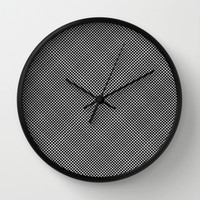 plaid hypnosis Wall Clock by RichCaspian