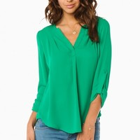 LANGE BLOUSE IN GREEN