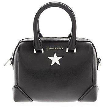 Givenchy Women's 'Micro Lucrezia' Metallic Star Shoulder Bag Black Silver