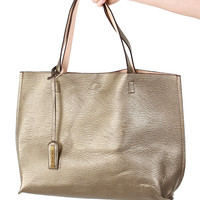 Park Avenue Tote Bag - Pewter/Nude
