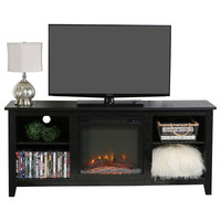 Home Loft Concepts TV Stand with Electric Fireplace & Reviews | Wayfair
